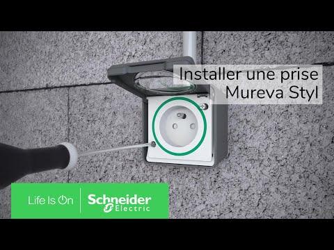 comment installer la prise de courant mureva styl schneider electric youtube