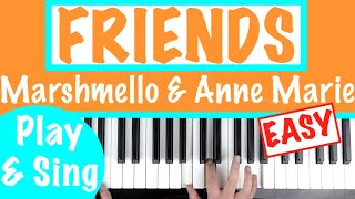 "How to play ""FRIENDS"" - Marshmello & Anne Marie 