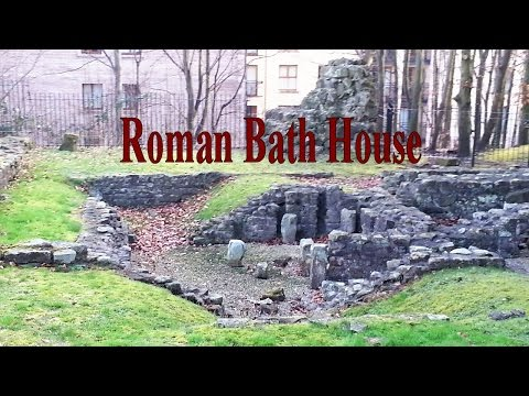 Roman Bath House remains in Lancaster (UK) Filmed with my Flying Camera (birds eye view)