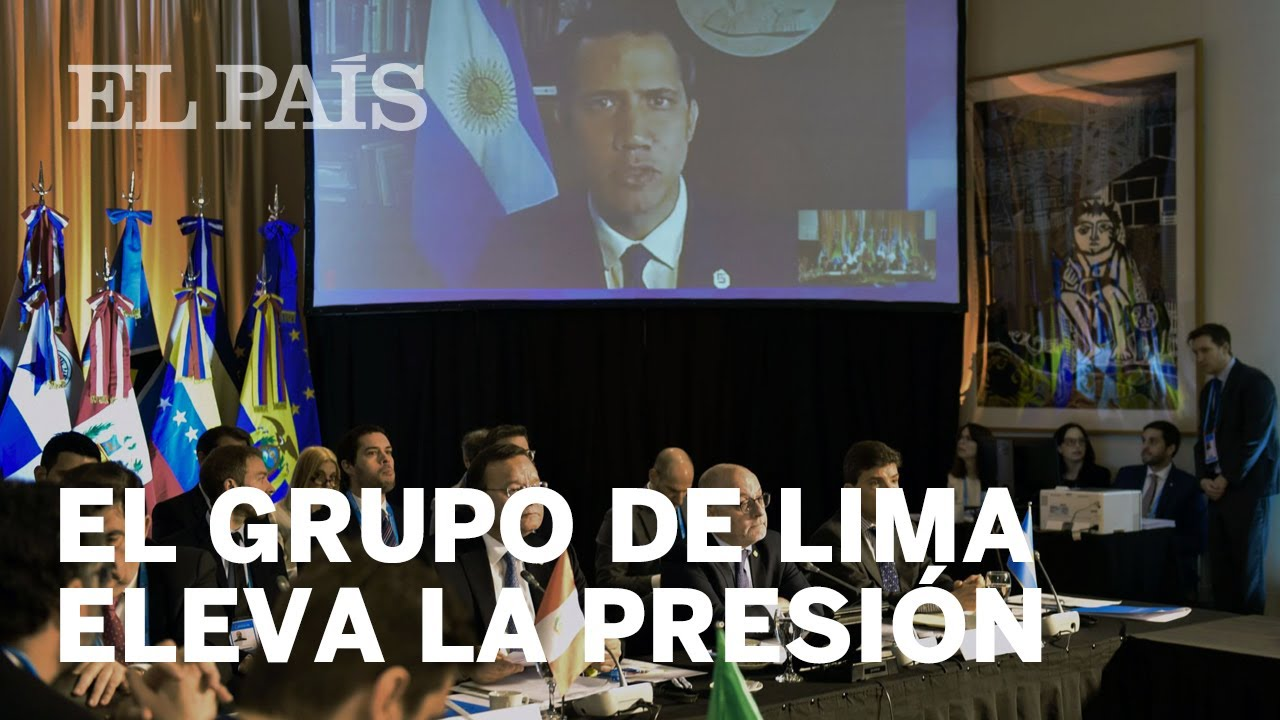 El Grupo de Lima pide al Consejo de Seguridad que discuta el informe de Bachelet