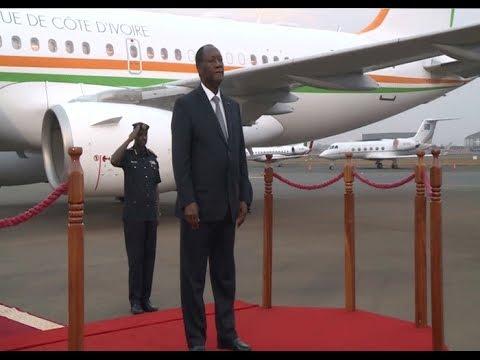 Rwanda: Arrivée du président ivoirien à Kigali