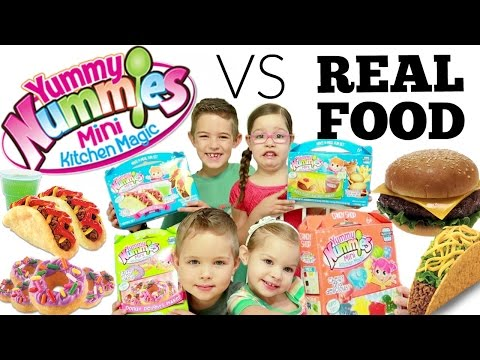 Yummy Nummies VS REAL FOOD Challenge