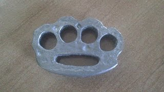 Download Video КАК СДЕЛАТЬ КАСТЕТ ИЗ СВИНЦА  / HOW TO MAKE BRASS KNUCKLES OUT OF LEAD MP3 3GP MP4