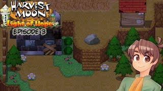 Let's Play Harvest Moon The Light of Hope Episode 3| Mountains and New Friends I Guess