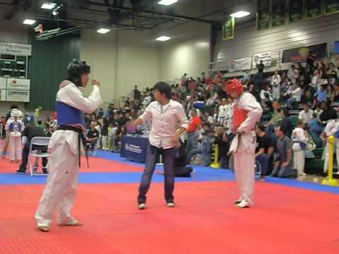 Taekwondo ko (Double-Roundhouse kick)