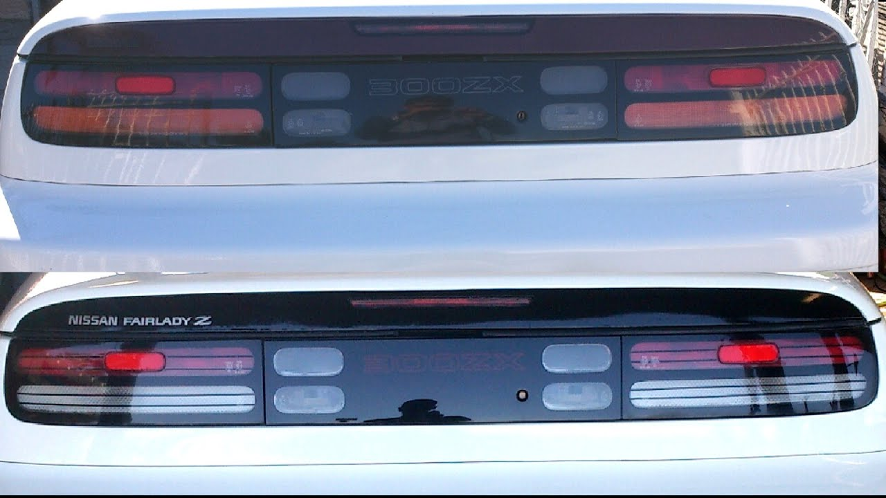 How To Make Clear Tail Lights 300zx Youtube