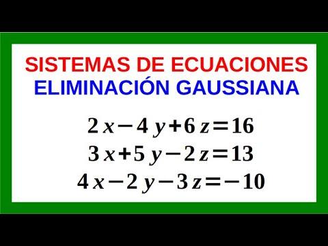 Sistemas de Ecuaciones Lineales 3x3 Método de Gauss-Jordan