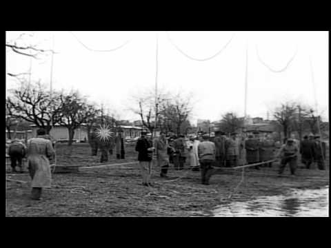 Dwight D Eisenhower,Supreme Allied Commander Europe, makes his first inspection o...HD Stock Footage