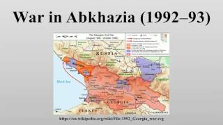 War in Abkhazia (1992–93)