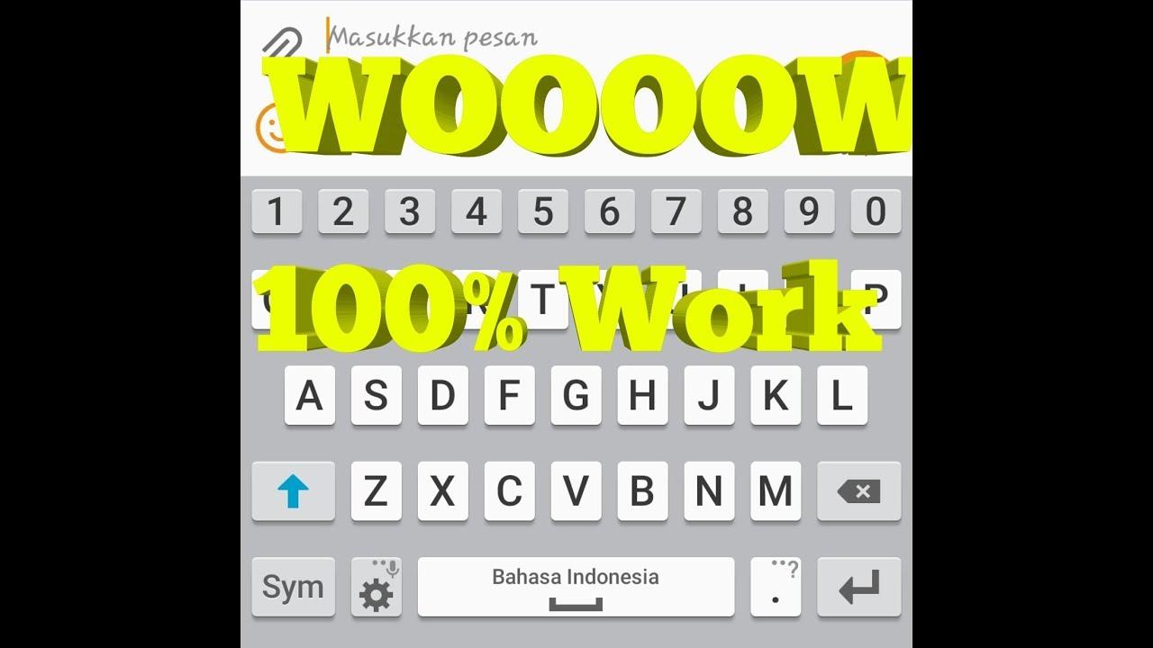 Work 100 Cara Memperbaiki Keyboard Papan Tombol Hp Android Yang