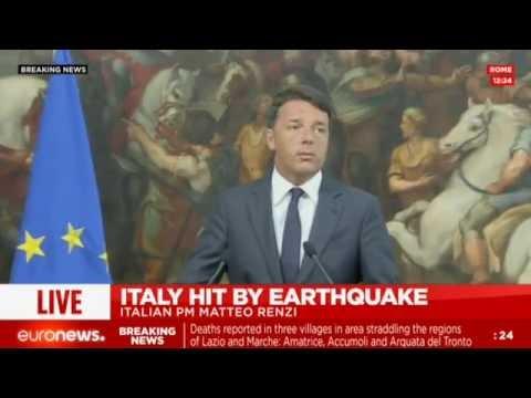 LIVE: Italian PM Matteo Renzi comments on 6.2 magnitude earthquake
