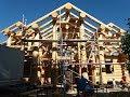 Montage vom Blockhaus in Deutschland. Kanadischer Style.