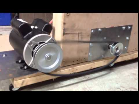 AC DC Permanent Magnet Motor Generator Pulley Rotation ...