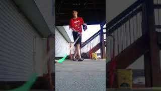 Takin shots in the backyard