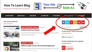 How to add social media icons to Blogger/Blogspot?