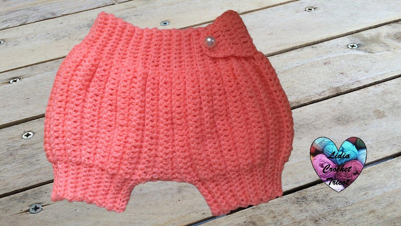 Sarouel bébé crochet très facile / Pantalon corto bebe tejido a crochet