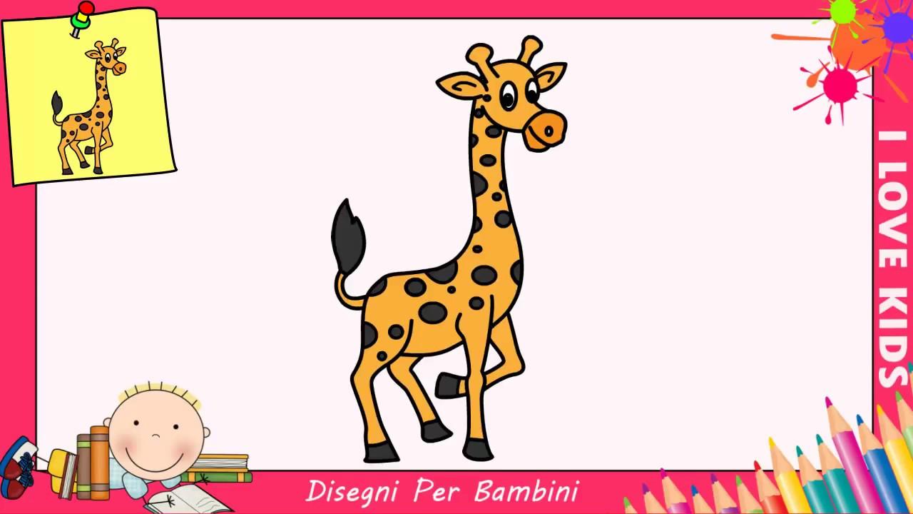 Come disegnare una giraffa facile passo per passo per for Coniglio disegno per bambini