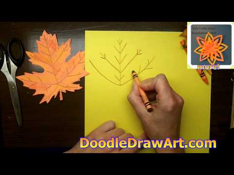 How to Draw and Make a Maple Leaf for Fall - Make a Paper Maple Leaf Decoration