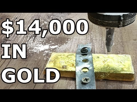 $14,000 GOLD bar vs 60,000 PSI Waterjet - with Cody's Lab