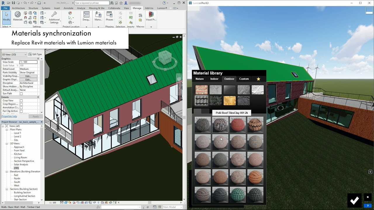 Lumion LiveSync for Revit - Materials synchronization