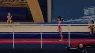 Опорный прыжок. Соревнования среди девочек. Камила, 2006 г.р. Февраль 2015 года.