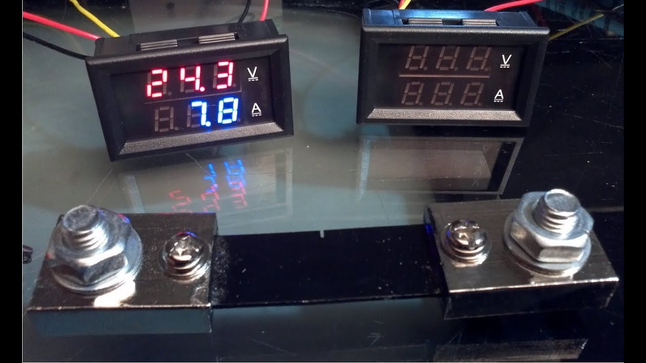 Ebay Reviews: 300V 100A Dual LED Digital Volt Amp meter - YouTube