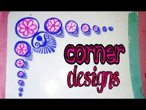Best and Easy Corner Design for Projects    Corner designs for school  projects    designs on paper