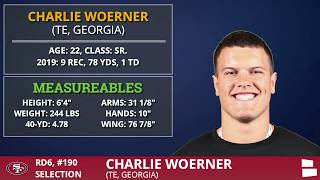 Charlie Woerner From Georgia Picked By The San Francisco 49ers In 6th Round of 2020 NFL Draft
