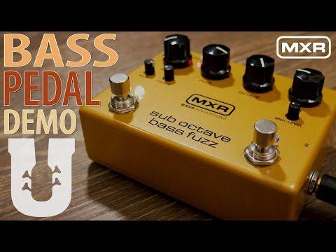 MXR Sub Octave Bass Fuzz Pedal Demo
