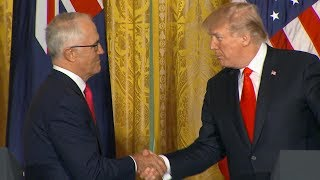 connectYoutube - President Donald Trump Australian Prime Minister Turnbull hold joint news conference | ABC News
