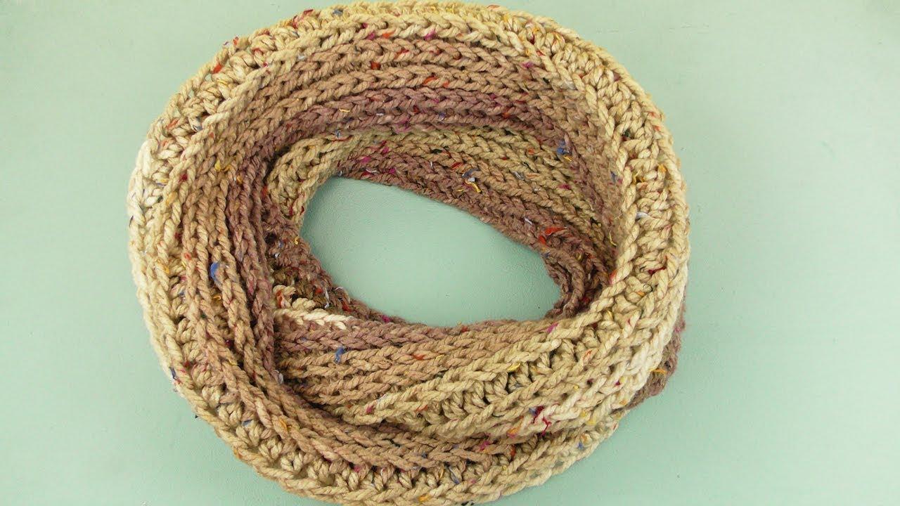 Loop Schal Häkeln Schal Aus Einem Knäuel Wolle Häkeln Wie