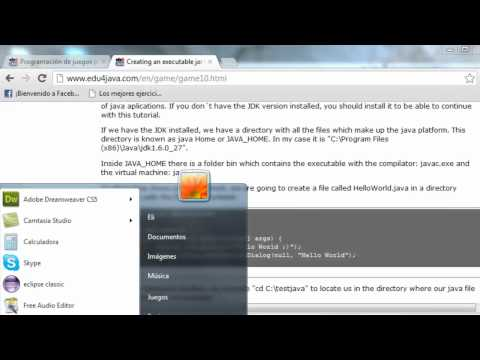 Creating an executable jar file and what is a virtual java machine. Game Programming Beginners 10