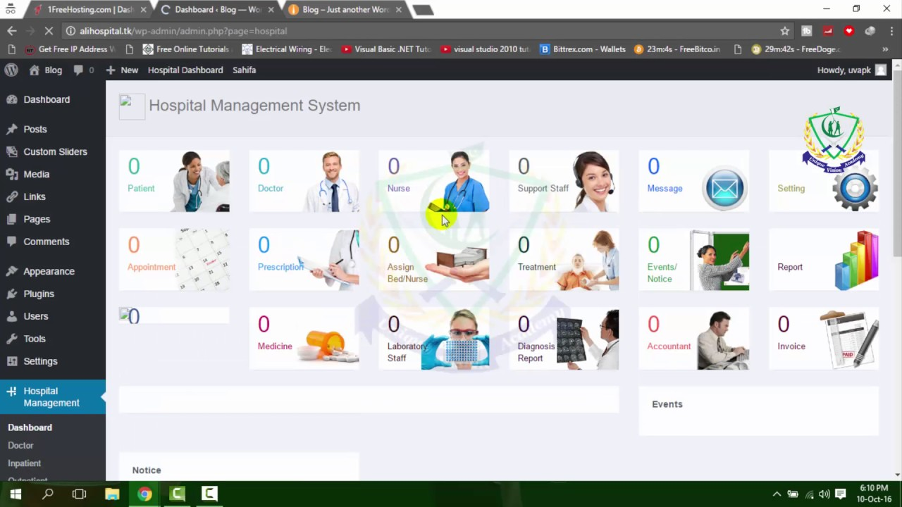 Lecture 5 HMS how to install hospital management system plugin on live  server
