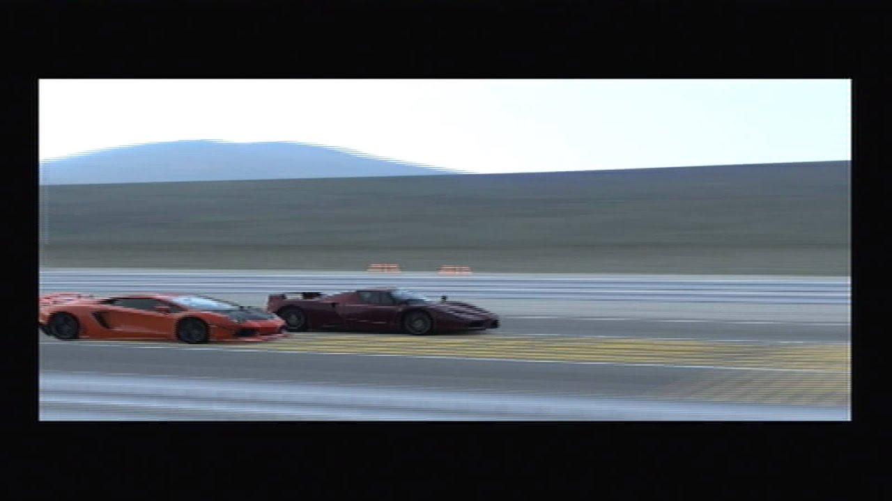 GT5 - Ferrari Enzo vs Lamborghini Aventador @ Route X - SnakeOfBacon