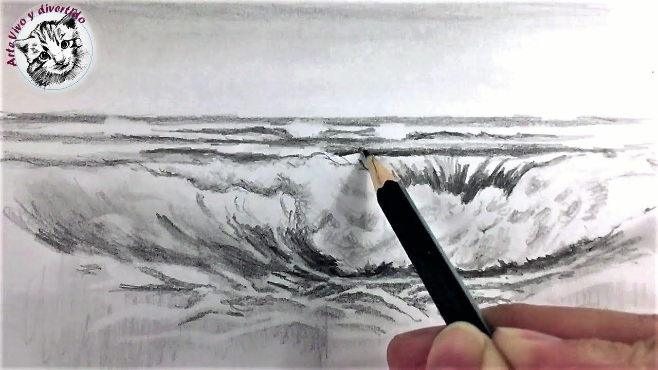 Como Dibujar una Marina con Lapiz muy Facil | Tecnicas de ...