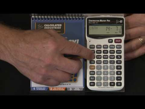 Great Tool for Building Professionals Construction Master 5 Calculator