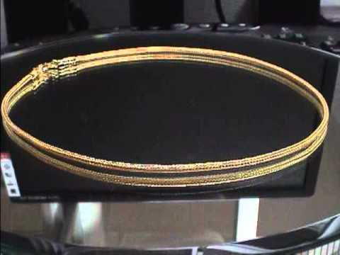 Foxtail Mesh Chain Necklace in 23k Thai Baht Gold