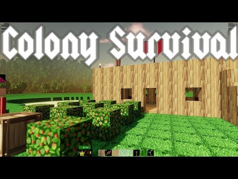 Colony Survival - Just like Minecraft? Surviving the first night! - Episode 1