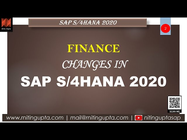 SAP S/4HANA 2020 - Key changes