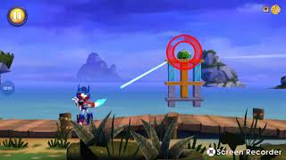 Jugando Angry Birds Transformers