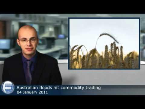 Australian floods hit commodity trading