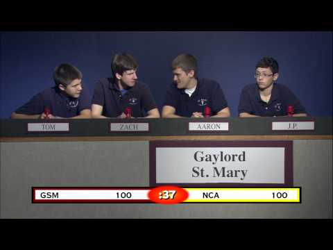 Quiz Central 2012-2013 Gaylord St. Mary vs. North Central Academy
