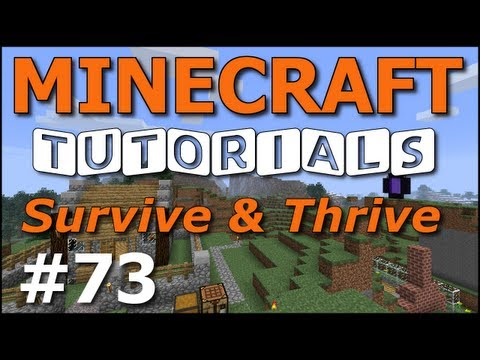 Minecraft Tutorials – E73 Apple Orchard Tree Farm (Survive and Thrive Season 4)