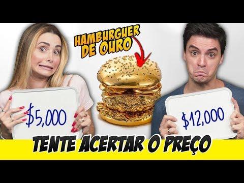 DESAFIO TENTE ACERTAR O PREÇO - Comidas caras