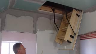 видео Установка чердачной лестницы: установить своими руками