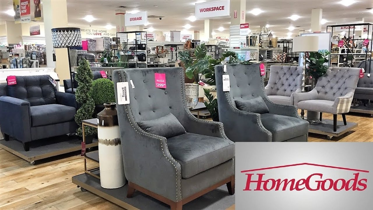 HOME GOODS ARMCHAIRS CHAIRS FURNITURE HOME DECOR - SHOP WITH ME SHOPPING  STORE WALK THROUGH 8K