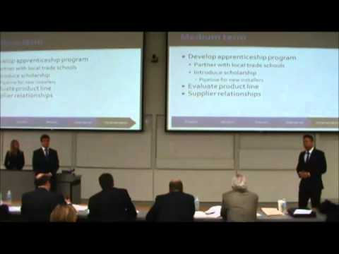 2nd Place | Business Strategy Case | Hill School of Business - U of R  | JDC West 2012