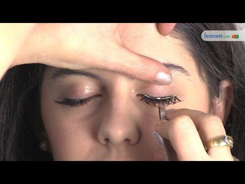 Tutorial di make-up: applicare le ciglia finte
