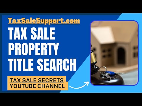 Tax Lien/Deed Title Searches: Weekly Update (1/14/18)