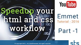 How to Write HTML & CSS faster - Emmet Introduction & Installation in Brackets Tutorial   Part-1